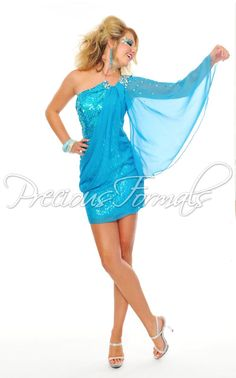 Glam Gurlz by Precious Formals, The Prom Shop - Prom Dresses in the Rochester MN area, Short Blue and Sparkles