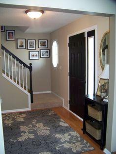 Entryway ideas...........love wall color
