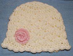 Shell newborn crochet hat pattern