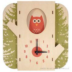 Art Wall Wooden Clock � Tree Owl