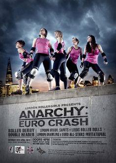 London Rollergirls posters by steve brown, via Behance