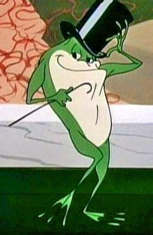 "Michigan J Frog ~ ""Hello My Baby, Hello My Honey, Hello My Ragtime Gaaall""  Loved this cartoon."