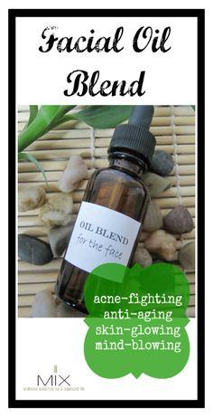 facial oil, oil blend, glow facial