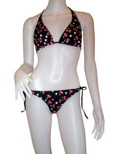 Rockabilly Cherry Bikini Punk Rockabilly Bikini [BI-009] - $15.52 : Punk Clothing, Rockabilly Clothing, Pinup Girls Clothing, Pin Up Dresses