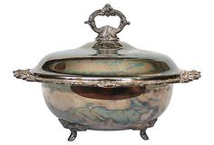 Silverplate Serving Dish w/ Lid on OneKingsLane.com I have one just like this.