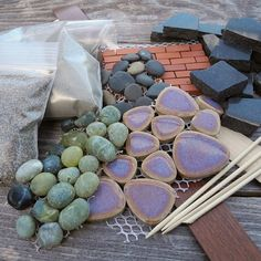 Miniature Garden Patio Sampler Kit, Mini Patio Mix, Stone, Brick, Ceramic Tile, Borders plus PDF