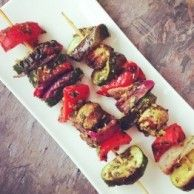 Check out these super easy and delish CHIMICHURRI VEG KEBABS. #Vegan # Healthy #Veg #Kebabs