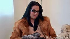 Tiffany Naylor welcomes you into her surgery and begins to work at curing your bouts of regular masturbation. But what will happen when you see her stroking herself with the fox fur around her and making full use of the fur mitten and glass dildo as you gaze at her slim sexy body? http://www.theloveoffur.com/