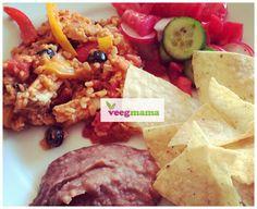 Vegan and gluten-free arroz con pollo made with @BeyondMeat #MeatlessMonday