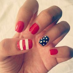 Party in the USA #nails a la @thebeautydept #fourthofjuly