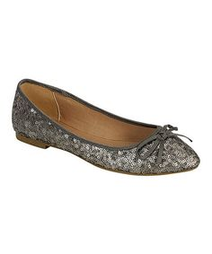 Take a look at this Silver Sequin Waranda Flat by Bamboo on #zulily today!