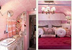 airstream trailer interior, Purdy pink