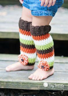 Fall Forest Leg Warmers Girls Leg Warmers crochet by TinyTeapots, $30.00