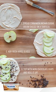 Pack your kids' school lunch with this easy Cinnamon Brown Sugar Philly Apple Roll-Up. Even the pickiest eaters will love this sweet treat! #recipe #lunchideas