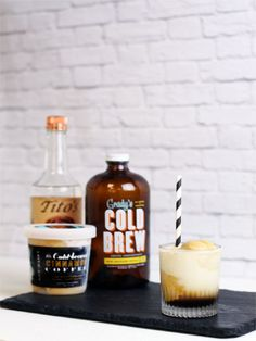 Boozy Ice Cream Cocktails — Easy Cocktail Recipes - with Tito's Handmade Vodka in Marie Claire