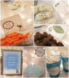 Frozen Party Food for Family Night Dinner Menu and Movie Night + Free Printables StuffedSuitcase.com