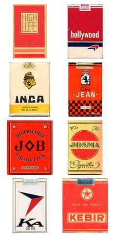 vintage cigarette package design.