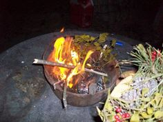 Burning the Yule green's at Imbolc #wiccan #pagan wiccanpagan