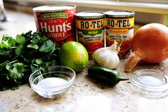 Pioneer woman salsa-- this is the one I used last summer! The best homemade salsa.