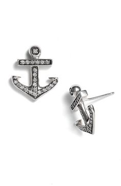 elizabeth and james anchor earrings