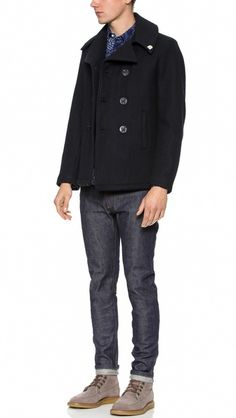 Gerald & Stewart by Fidelity Quilted Pea Coat