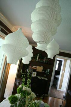 Jordan's Baby Shower - Decor - Hanging Lanterns showerbachlorett parti, bridal showerbachlorett, hang lantern, babi shower, baby showers