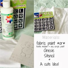 Make any acrylic paint FABRIC PAINT! DIY Onesie, Adorable Baby Gift Ideas, Personalized! ♥♥♥