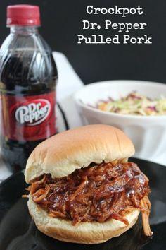 Slow Cooker BBQ Pork Recipes | Dr. Pepper Pulled Pork