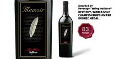 "Memoir Red - awarded ""Best Buy/World Wine Championships Award Bronze Medal"" by the Beverage Testing Institute."