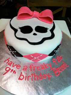 The Iced Queen gives loads of detail about how she made this Monster High cake.