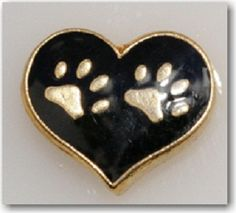 $5.98(Heart Love) Your Dog or your Cat!  Little black heart for your locket!