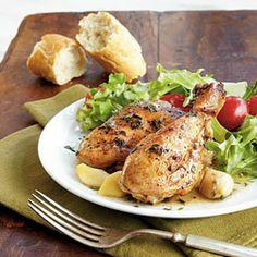Best Garlic Chicken (minus the wine and  cognac)