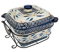 An amazingly versatile addition to your kitchen pieces!  Temp-tations Old World 3-Piece Square Baker Set