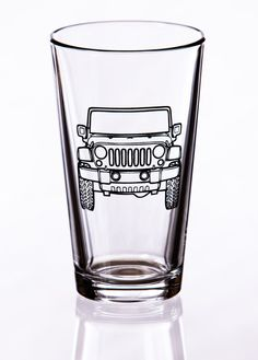 Jeep Pint Glass by EastMesaDesign on Etsy, $13.00