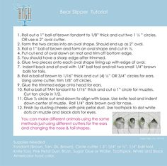 Bear slipper tutorial instructions