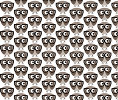 Geek Owl fabric by n