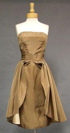 Emma Domb taffeta cocktail dress, via vintageous