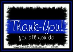 September 15th is National Thank a Police Officer <3. I hope you all join us in thanking all those who keep us safe here at home <3