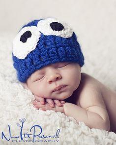 Crochet Hat Pattern Monster Hat Newborn to Adult