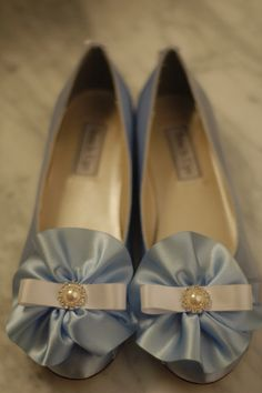 Marie Antoinette Baby Blue Satin Low Shoes with Ruffles & Rhinestones
