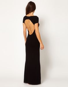Tatjana Anika Diva Jersey Maxi Dress With Cut Out Back