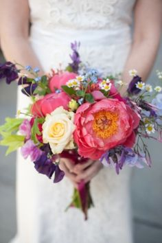 Spring Peony and Rose Bouquet by Sprout Home