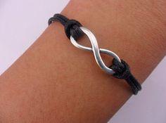 jewelry bangle antique silver karma bracelet  infinity bracelet cuff cotton rope bracelet women bracelet girl bracelet wrist SH-00005 on Etsy, $1.00