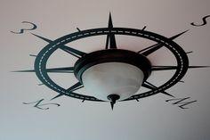 Compass around a ceiling light. Brilliant!