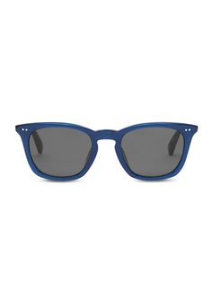 Upgrade from a basic black frame with TOMS Maxwell frames in matte slate blue.