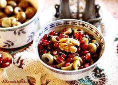 AZ Cookbook - Food From Azerbaijan & Beyond » Olive-Walnut-Pomegranate Medley (Zeytun Perverde)