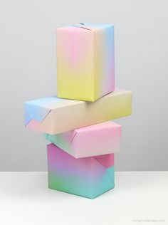 pastel, gradient paper, gift wrapping, color, diy gifts