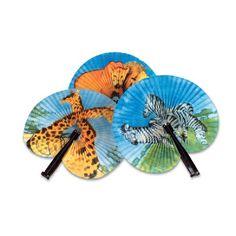 Zoo Animal Pairs Folding Fan (1 Fan) at theBIGzoo.com