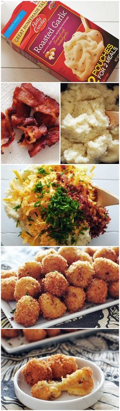 Loaded Cheesy Mashed Potato Balls #bettycrocker