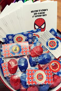 The Party Wall: Spiderman Birthday Party: Part 6, Party Favors